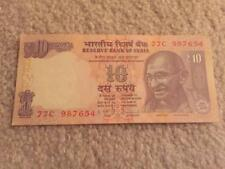 India 10 Rs Descending Order Fancy Number '987654' UNC Condition