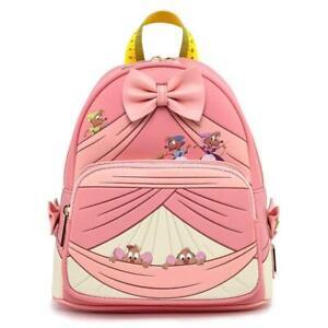 Loungefly Disney Cinderella Peek A Boo Double Strap Mini Backpack Pink WDBK1422