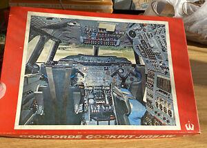 Vintage 690 Piece Jigsaw Puzzle Concorde Cockpit