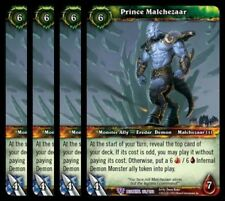 4x Prince Malchezaar Betrayal of the Guardian Epic 151 World Warcraft WoW TCG