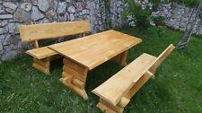 Rustikale Gartengarnitur , Sitzgruppe , Holz Massiv, Tisch