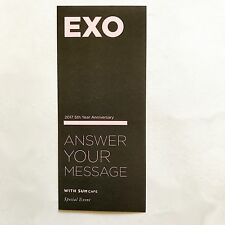 SM TOWN Sum Cafe EXO 5th Year Anniversary Event Official Message Postcard Set
