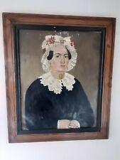 Ecole Francaise Portrait de femme XIXeme