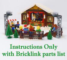 Winter Village Theater CUSTOM INSTRUCTIONS ONLY for LEGO Bricks (like 10259)
