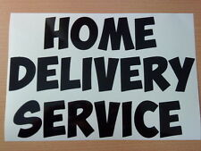 LARGE home delivery chip shop window sign doors vinyl sticker take away grocery
