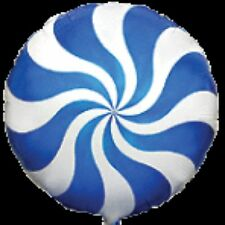 """BLUE CANDY CANE SWIRL 18"""" BALLOON FOR WILLY WONKA THEMED PARTY!"""