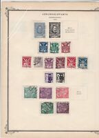 czechoslovakia stamps page ref 17077