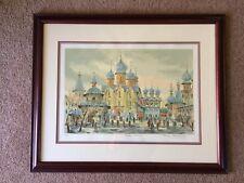 Anatole Krasnyansky Rostov Kremlin Serigraph Pencil Signed LTD 41/300 W/ COA