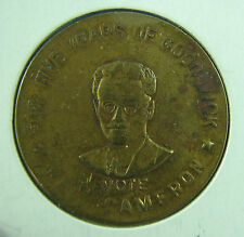 1945 Good Luck Token vote Cameron for five years circulated