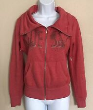 Guess Los Angeles Division 1201/1203 Zip Up Sweater Orange Spell Out