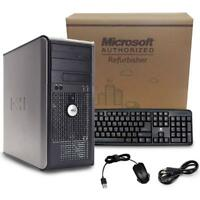 Clearance Dell Tower Computer PC Windows 10 Core 2 Duo 3.0Ghz WiFi 4GB 8GB 1TB