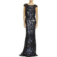 Badgley Mischka 2464 Womens Black Silk Semi-Formal Dress Gown 10 BHFO