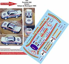 Decals 1/24 réf 372 Porsche 930 Karam Rallye de Montagne 1985