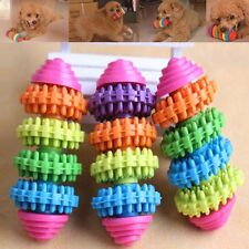 Colorful Rubber Pet Dog Puppy Dental Teeth Healthy Teeth Gums Chew Toy Tool Gift