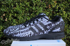 ADIDAS ORIGINALS JS ZX FLUX TECH LOGO SZ 7 BLACK WHITE JEREMY SCOTT S77839
