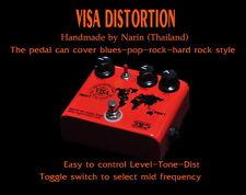VISA DISTORTION OVER DRIVE BOOSTER GUITAR EFFECT PEDALS POP ROCK HANDMADE
