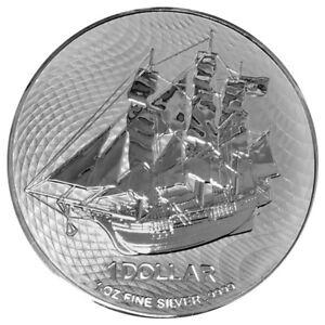 2022 Cook Islands HMS Bounty 1 oz .9999 Silver PRE-SALE Capsuled Limited BU Coin