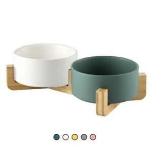 Ceramic Dog Feeding Bowl Pet Feeder Goods For Cats Puppy Food Water Container St