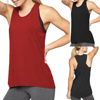 Women's Cross Back Sport Yoga Tank Tops Sleeveless Workout Active Vest Tee Shirt