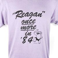 Ronald Reagan T Shirt Vintage 80s Once More In 84 Election Made In USA Medium
