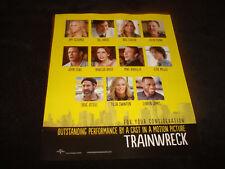 TRAINWRECK 2015 Oscar ad Amy Schumer, Bill Hader, Ezra Miller, John Cena, cast