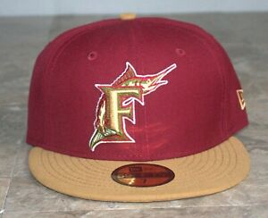 RARE ~ New Era Florida Marlins Cooperstown Collection FSU colors 59FIFTY HAT NEW