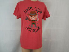 Friday the 13th jason voorhees mens graphic t shirt Tee NWT red follow dreams M