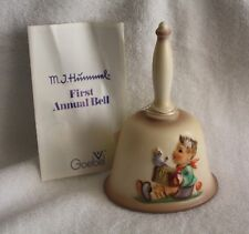 "M. I. Hummel First Edition Annual Bas Relief Bell ""Let's Sing"" In Original Box"