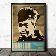 Aretha Franklin Art Poster Music Soul Funk Motown Stax Otis Redding