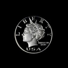1999 NORFED 1 OZ .999 SILVER LIBERTY CURRENCY $10 SILVER ART ROUND (GEM DMPL)