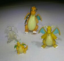 4 Vintage Dragonite TOMY CGTSJ Nintendo Pokemon Keychain CLEAR Figurine Toy Lot