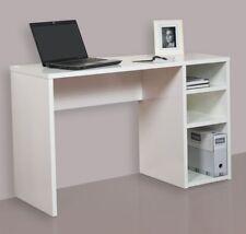 Hogar24 - Mesa escritorio, mesa estudio con 3 estantes, color blanco