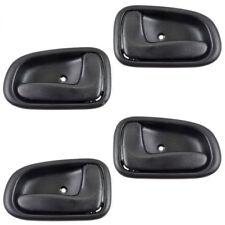 Car Interior Inside Door Handle Black Set 4 Kit for 1993-1997 Toyota Corolla