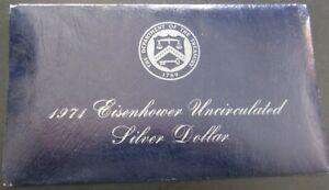 1971s Eisenhower Uncirculated Dollar - Blue Envelope