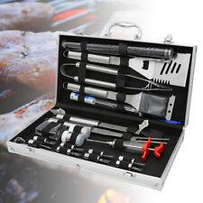 25pcs Grillbesteck mit Aluminium-Koffer Grillen Camping BBQ Grillzubehör Set