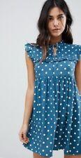 Ladies Motel Sleeveless Tea Dress With Collar In Vintage Spot Size M  FREE POST
