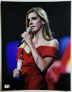 LANA DEL REY Signed 11x14 Sexy Photo 2012 Brit Award Winner Strapless Red Dress
