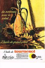 PUBLICITE ADVERTISING  1963    HUILE DE TOURNESOL