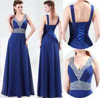 2016 Long Bridesmaid Evening Formal Wedding Ball Gown Prom Cocktail Party Dress