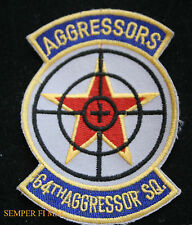 64TH AGGRESSORS SQUADRON PATCH US AIR FORCE SOVIET USSR PILOT CREW RED FLAG WOW