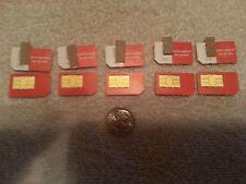 LOT of FIVE METROPCS CDMA FULL SIZE SIM CARD-READ Phone Compatibility List Below