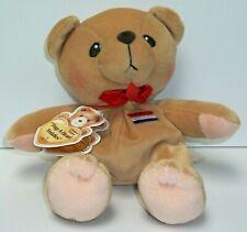 Cherished Teddies Plush Bear Tug-A-Heart Teddie # 795984 has tag Netherlands