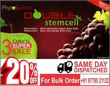 Phytoscience Double Stem Cell,anti ageing ( 14 Sachets )1 pack( apple & graphes)