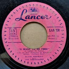ELVIS PRESLEY Philippines 45: I Want to Be Free/Party LANCER L-34840-A/L-34841-A