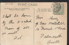 Genealogy Postcard - Ring / Mitchell - 16 Merril Place, Falmouth, Cornwall RF658
