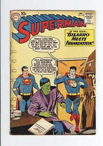 SUPERMAN #144 VG   CLASSIC COVER - BIZARRO Meets FRANKENSTEIN - 1961