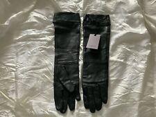 Coast, Vintage Long Black Leather Gloves