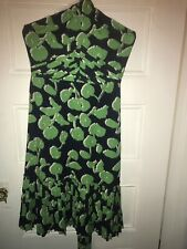 TORY BURCH Green Blue Silk Dress 6 ~ S