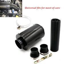 Cold Air Intake Carbon Fiber Air filter Enhance Horsepower&Torque Black Engine