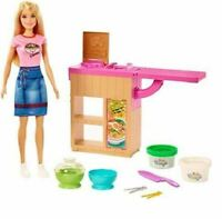 BARBIE NOODLE BAR PLAYSET KIDS TOY